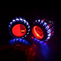 2.5inch mini Bi xenon hid Projector lens led day running white angel eyes H1 H4 H7 retrofit car assembly kit DRL new version
