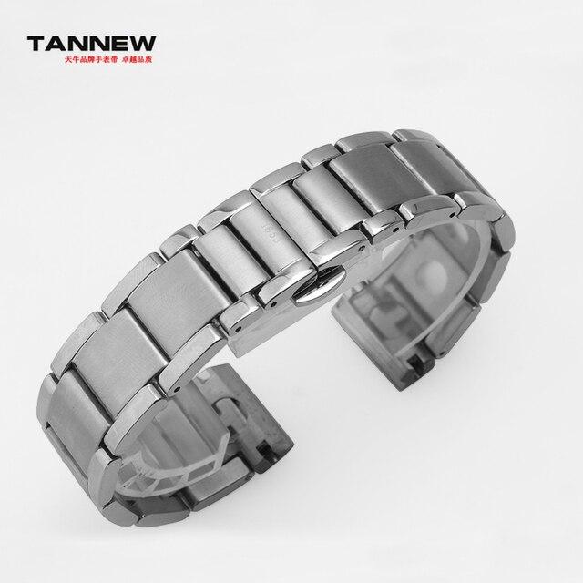 TANNEW accesorios de 20mm para los hombres de calidad de acero inoxidable correa de reloj correas para tissot T1853 PRS516 T91 envío gratis + herramientas