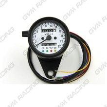 60 мм механический одометр спидометр+ 4 Дополнительные характеристики белый лицевой/черный корпус/белый светодиодный индикатор с индикаторными лампами 0-220 км/ч