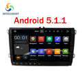 """9 """"5.1.1 1024*600 tela Quad core Android 2 DIN gps rádio do carro para Seat Leon Altea VW Golf TiguanSkoda Fabia Rápida não DVD jogador"""