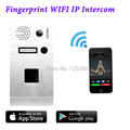 3G 4G WiFi IP Intercom System Android/Iphone Remote Control Wireless Video Doorbell Fingerprint IP Intercom, Free Shipping
