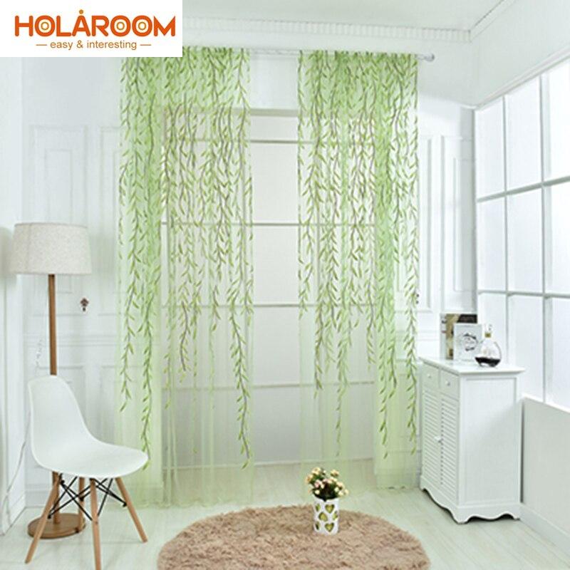 impreso en offset de mimbre pastoral floral cortinas para la ventana de la cocina puerta cortina