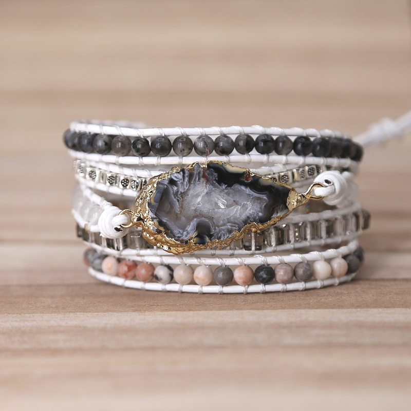 Natural Stones Druzy Wrap...