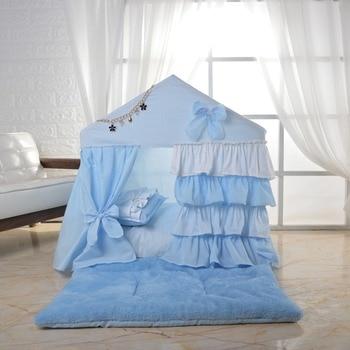 Cotton pet room with cushion dog tent lace kennel comfort velvet quilt dog house PVC bracket pet tent