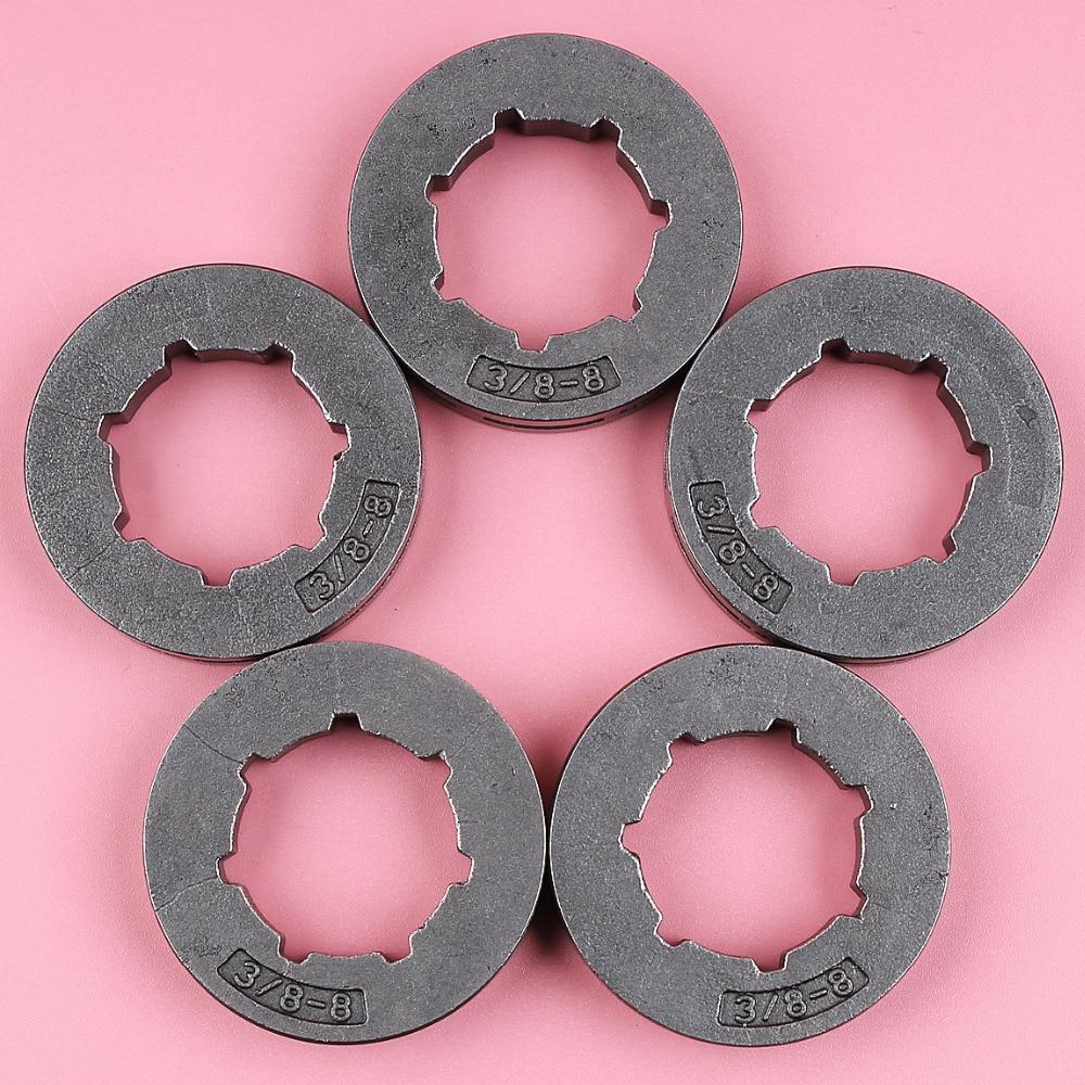 5pcs/lot 3/8 Pitch 8 Teeth ID 22mm Standard Spline Sprocket Rim For Stihl 30 31 32 38 40 41 44 MS361 MS440 MS460 MS660 Chainsaw
