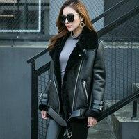 Merion овчины Дубленки пальто для женщин пояса из натуральной кожи стриженый овечий мех куртка rf0228