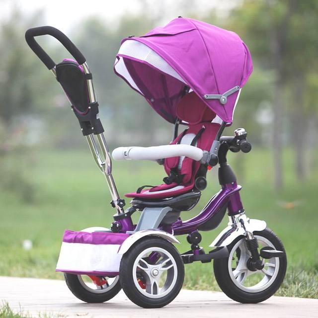 Nuevo Bebé carro triciclo niño bebé cochecito de bebé bebé bicicleta de la bici para monthes de 6-6 años de los neumáticos de la bomba neumáticos inflables
