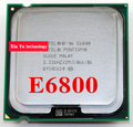 Lifetime warranty Pentium E6800 3.33GHz 2M 1066 Dual Core desktop processors CPU 6800 Socket LGA 775 pin Computer Free shipping