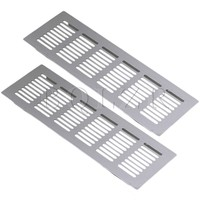 BQLZR 2pcs 225mm Square Aluminum Ventilation Vent Grille For Cupboard Wardrobe