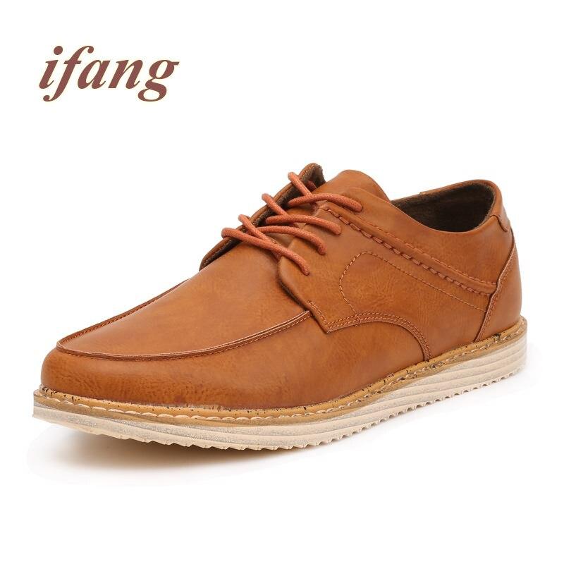 ifang 2017 Retro British Style fashion Flats men Brogue men s Footwear Flats Shoe Male shoes