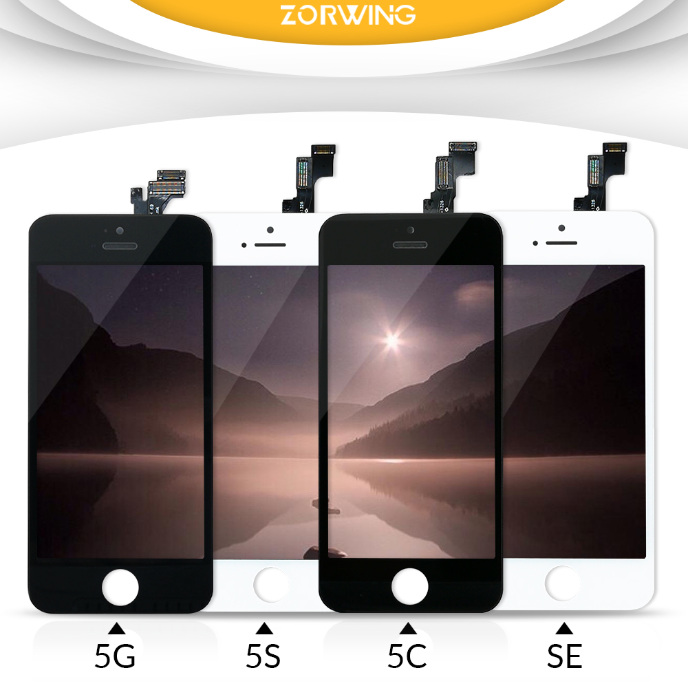AAA + Qualità Dello Schermo LCD Per iPhone 5 5 S 5C SE Display Digitizer Touch Screen Assemblea di Ricambio Per iPhone 5 S 5 Schermo LCD