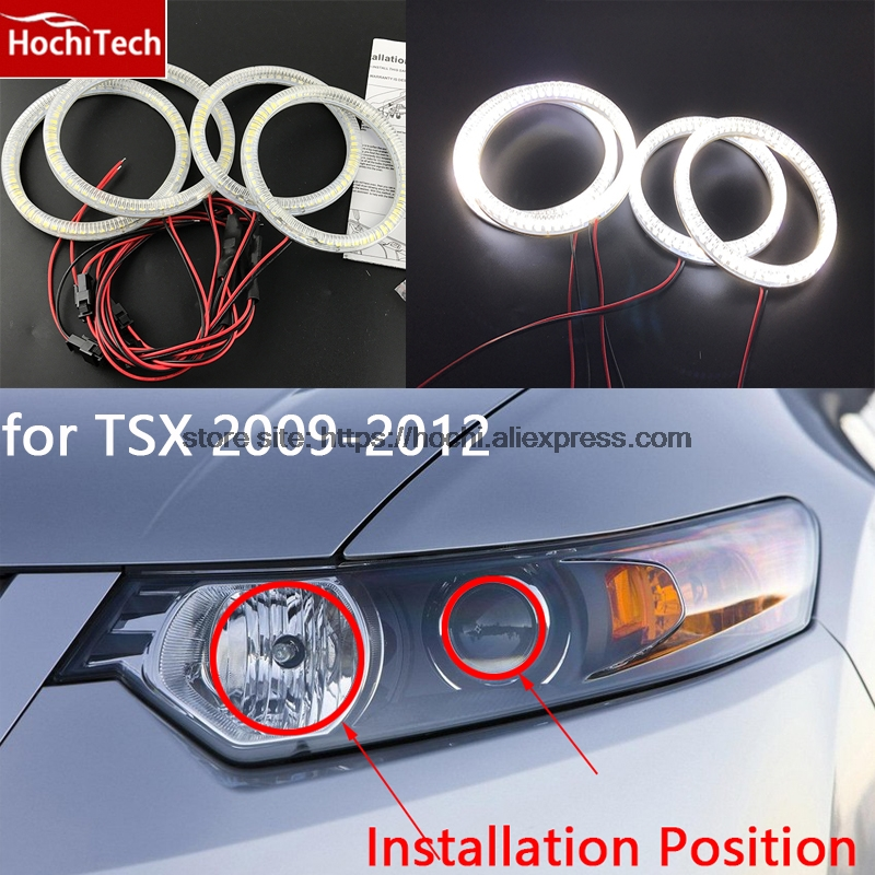 Excellent SMD 5050 LED White Headlight Halo Angel Demon