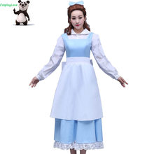 CosplayLove Movie Beauty and The Beast Custom-made Blue Belle Maid Dress  Cosplay Cosplay Costume For Kid Adult Women 8f4ba2e36e88