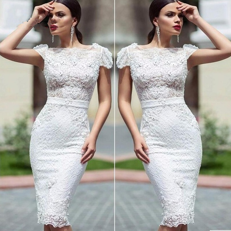 Elegant White Cocktail Dress  Dresses for Woman
