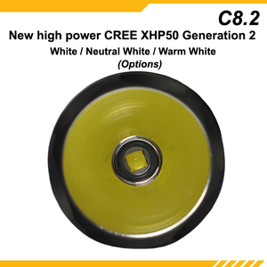 Image 2 - New KDLITKER C8.2 Cree XHP50.2 White / Neutral White / Warm White 2600 Lumens 5 Mode LED Flashlight   Black ( 1x18650 )