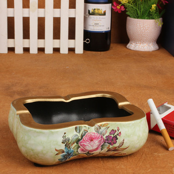 Home decor living room European-style ceramic ashtray ashtray ornaments crafts business gifts wholesale -152C