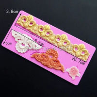 Przy Moulds New Products European Style Embossed Pattern Cake Edge Mold Turn Sugar Lace Mold Dry