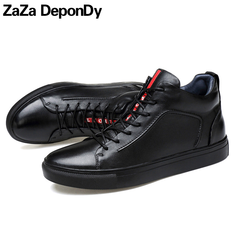 Plus Size 36-47 High Quality Lovers Autumn/Winter Running Shoes For Men Zapatillas Women Sport Genuine Leather High Top Sneakers