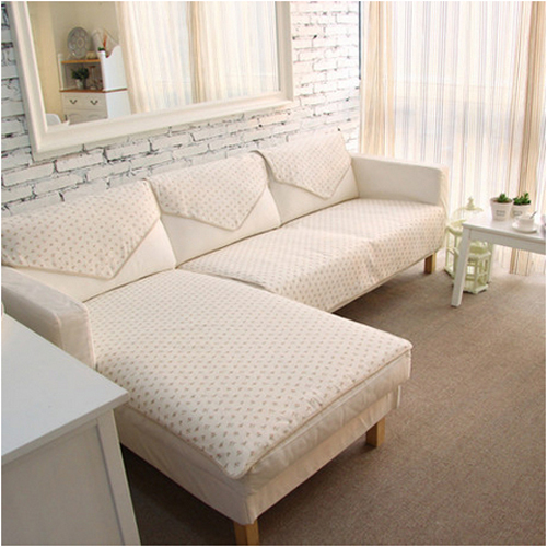 Korean Pastroal Reversible Fl Cotton Cloth Sofa Cover Towel Sectional Couch Covers 1 Piece
