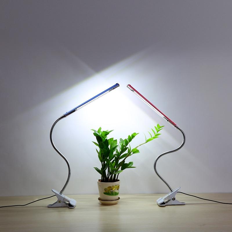 USB metal hose LED clip desk lamp adjustable light eye protection study reading desk lamp plant lamp beauty desk lamp