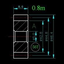 0,8 м 56 т/отверстие 5 мм 6 мм 8 мм 10 мм/ширина 8 мм/для детали мясорубки и т. д