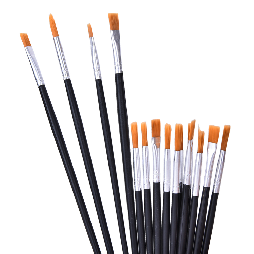 6-12 Pcs Painting Brush Set Nylon Hair Watercolor Gouache Acrylic Oil Painting Brushes Drawing Art Supply