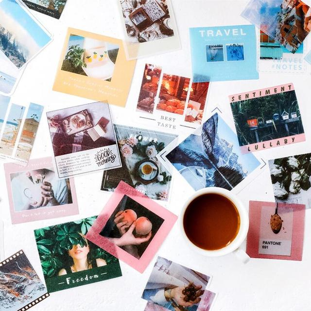 40 pcs/Lot Retro Travel Coffee Life Label Sticky Notes Post Memo Pad Kawaii Stationery School Supplies Planner Stickers Paper