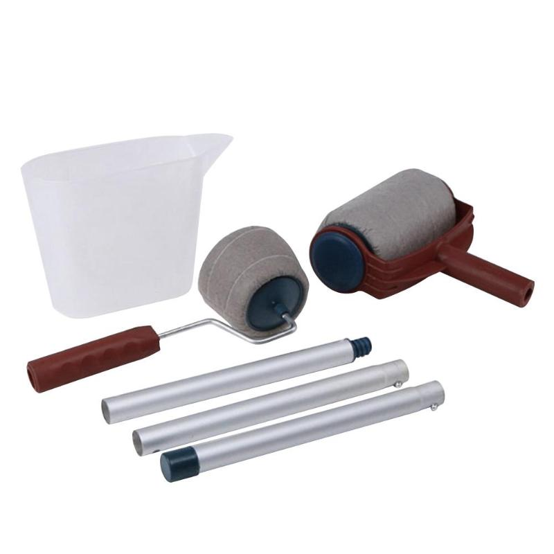 New Paint Runner Roller Pro Rollers Wall Painting Kit Wall Brush DIY Handle Tool Edger Room Garden Painting+Extension Pole Tube diy wall decoration tools 5 inch handle grip applicator plus 5 wall pattern painting roller 025y