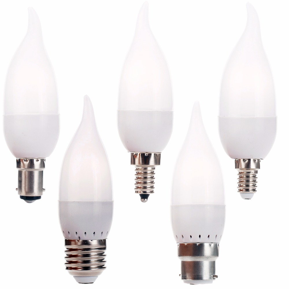 3W LED Bulb Lamp E12 E26 E27 E14 B22 B15 Flame Chandelier Candle Light 2835 SMD AC 220V 110V Led Corn Lights Home Decor 3w e14 home candle bulb led light lamp ac 85 265v 6pcs
