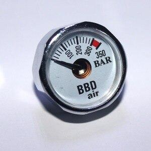 Image 2 - ペイントボールアクセサリーハンドポンプエアガン PCP エアガンミニ 350bar 圧力計 1/8NPT M10 * 1 ゲージ