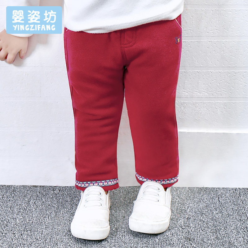 2017 New Winter Children Trousers Baby Girls Leggings Casual Cotton Thick Elastic Waist Pants Kids Pants Cotton Pencil Pants hodisytian new fashion women jeans high waist elastic denim capris pencil pants stretch trousers pantalon femme plus size 5xl