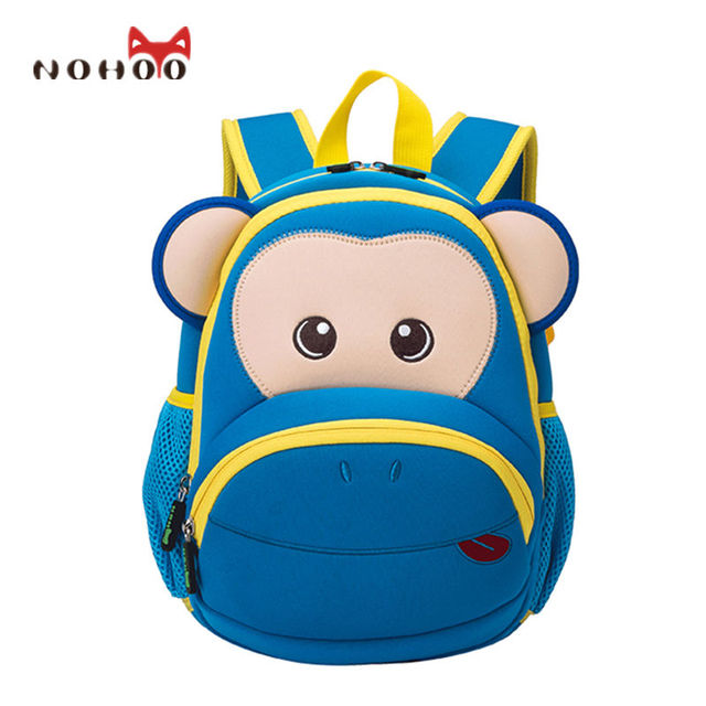 Nohoo New Cute Kids School Bags Cartoon Bear Dolls Neoprene Backpack Mini Baby Children Toddler Book