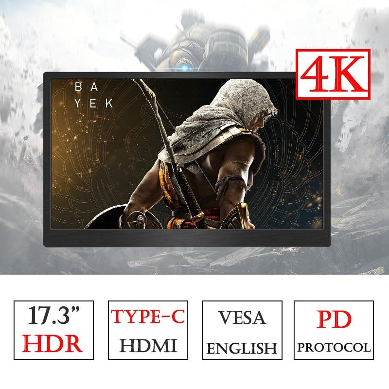 17.3 pouces 4 K type c Mornitor pour PS4 XBOX NS ordinateur Adobe 100% couleur HDMI affichage avec fonction HDR PD alimentation-in Moniteurs LCD from Ordinateur et bureautique on AliExpress - 11.11_Double 11_Singles' Day 1