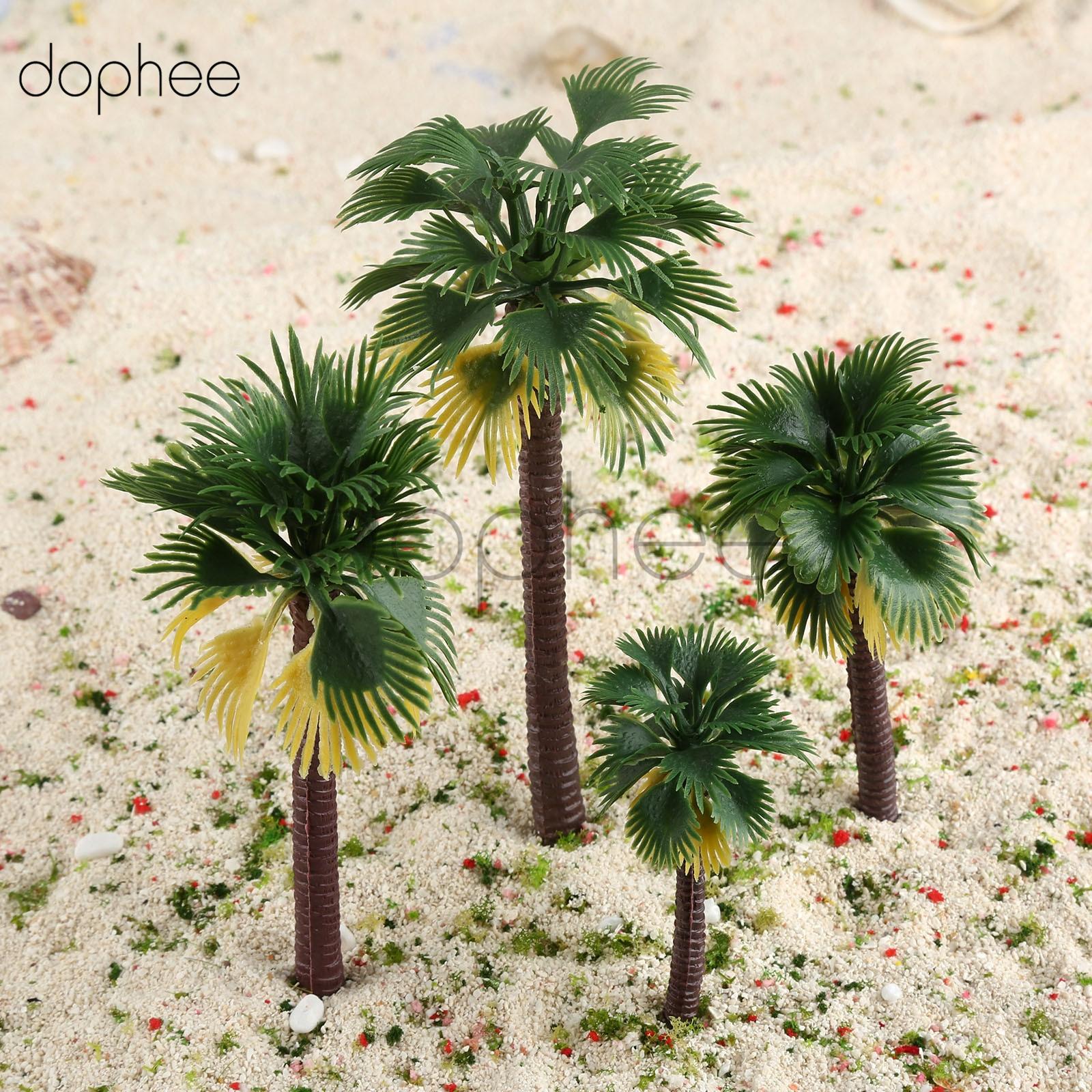 25CM Green Artificial Coconut Palm Tree Micro Plastic Landscape ...
