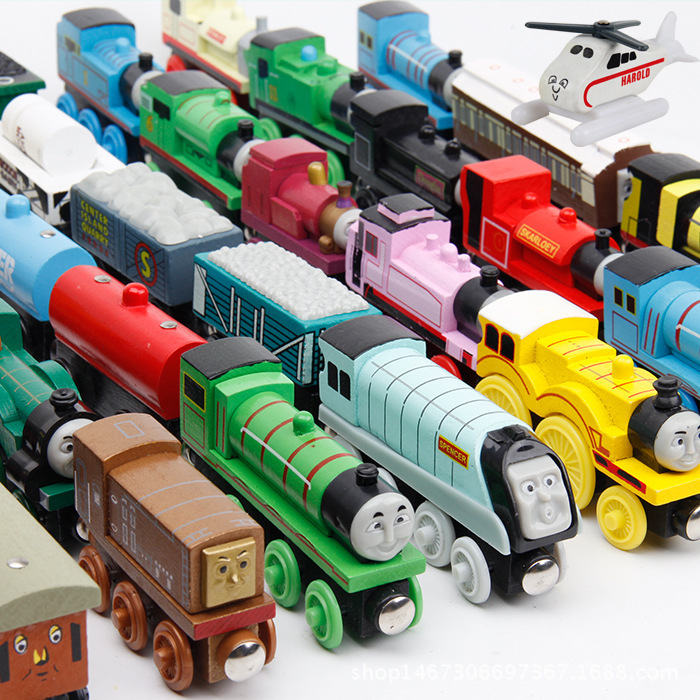 Train Magic Track Car Wooden Train Hot Wheels Thomas and Friends For Children Kids Gift 48 Types Choose Car Toy image