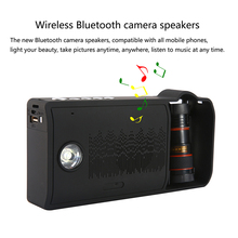 Outdoor Portable Bluetooth Speaker Light Speaker With Microphone Multifunctional