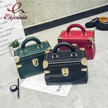 New Vintage fashion personality box shape rivets metal casual bag ladies shoulder bag totes handbag crossbody messenger bag