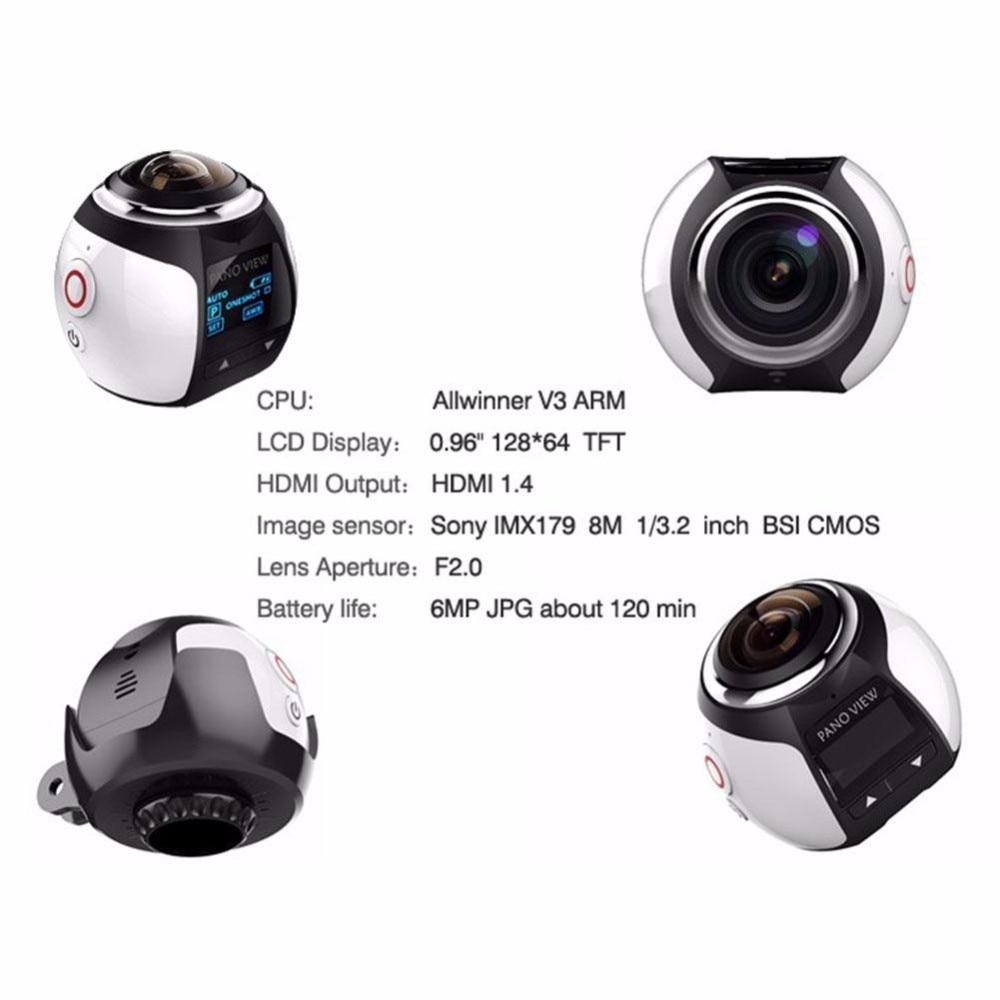 Amkov 4 k 360 câmera panorâmica ultra