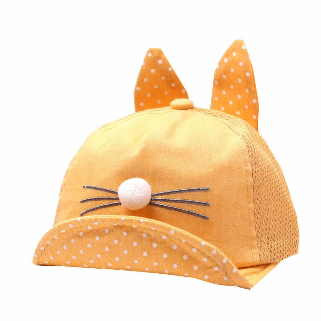 หมวก & หมวกเด็กแรกเกิดหมวกผ้าฝ้ายเด็กน่ารักเด็กเด็กการ์ตูนนักเรียน Paillette หมวกหมวกเบสบอลหมวก Sunhat
