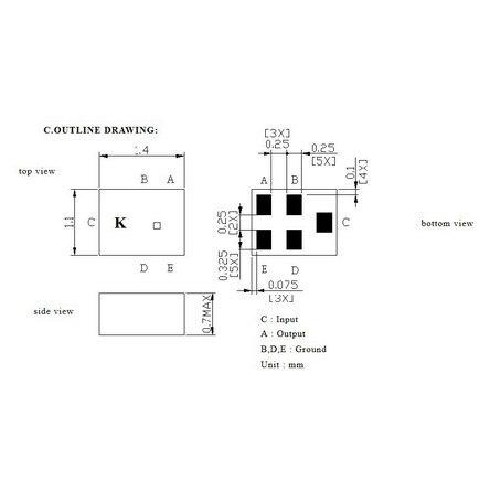 Электронный фильтр ! TA0757A 0757A 1575.420