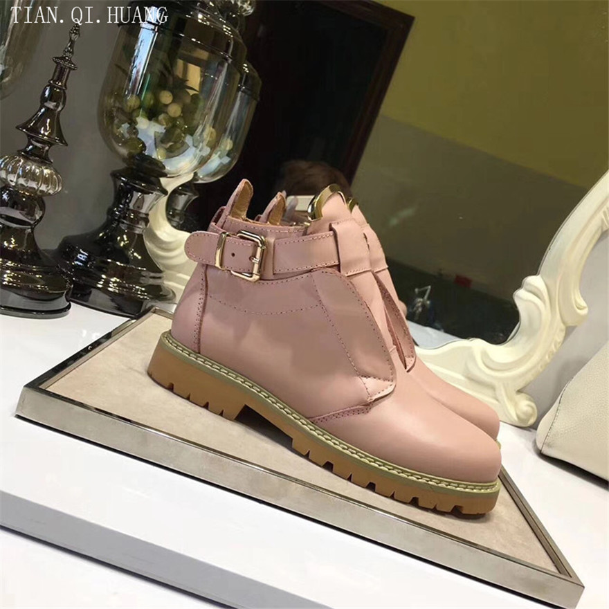 New Style Classic Fashion Design Woman Ankle Boots Women Boots Shoes High Quality Motorcycle Genuine Leather