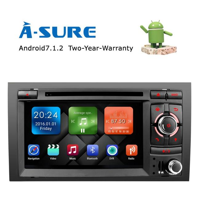 US $372 0 |A Sure Android 7 1 CAR DVD GPS For Audi A4 S4 RS4 SEAT EXEO dvd  player radio stereo 2GB Audio auto multimedia screen navigation-in Car
