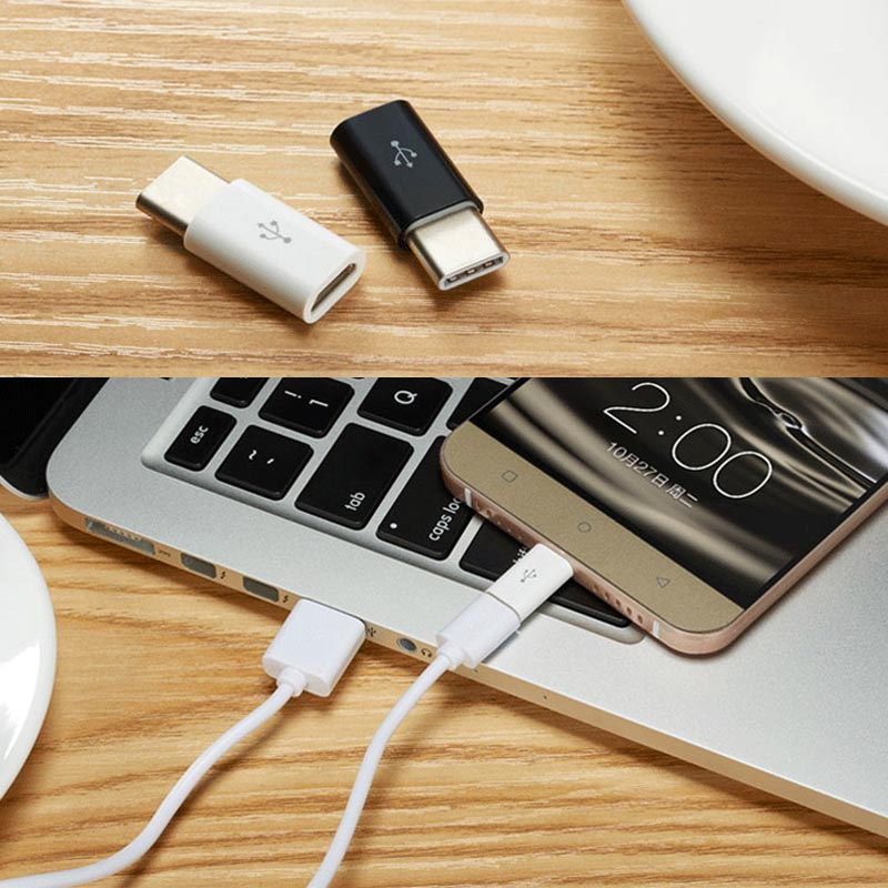 Micro USB Female to Type C Male Adapter for Letv Xiaomi Mi 5X Oneplus Samsung S8 Plus JLRJ88