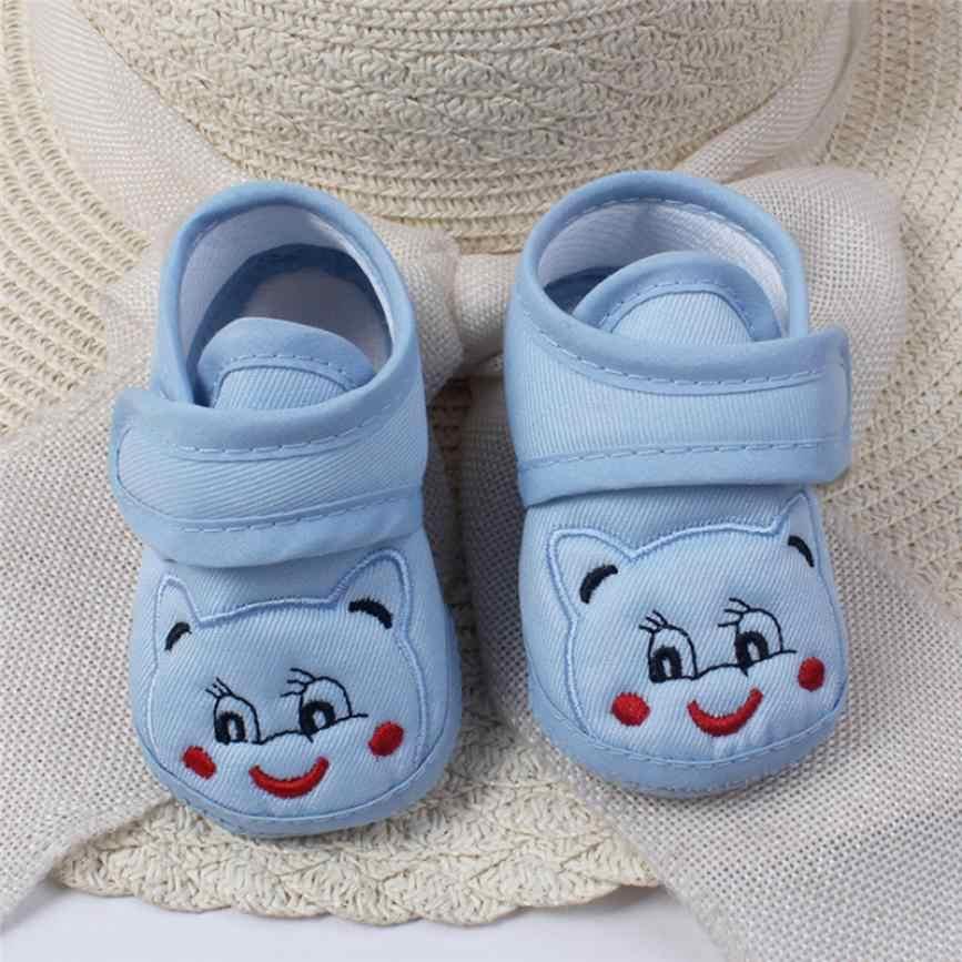 Низкая цена потери слуха Sale18 для маленьких девочек и мальчиков Мягкая подошва с героями мультфильмов противоскользящие обувь для малышей; 20