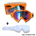 Professional Pinhole Glasses Motocross Goggle With 10 Pcs Tear off Films  Motorcycle Gear