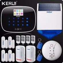 Iphone Android App GSM Home Security Alarm System SMS RFID Touch Keypad Outdoor Solar Siren Door