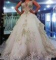 Дорогие Свадебные Платья Роскошные свадебные платья с бриллиантами и кристаллами Аппликации бисероплетение Бальное платье vestidos де noiva