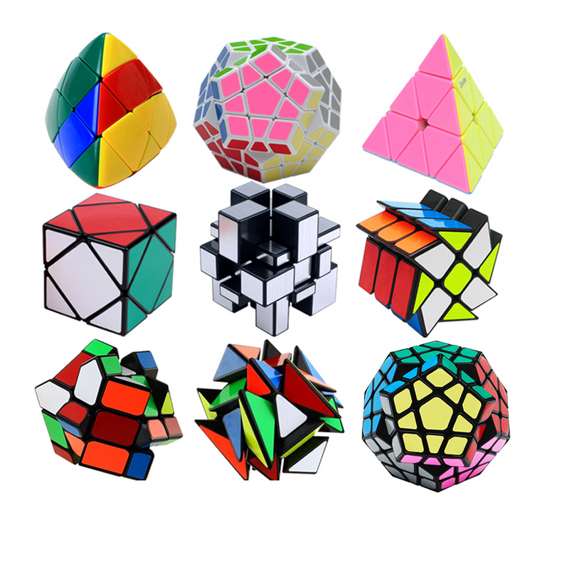 Professional 3x3x3 Magic Mirror Skew Cube Magic Pyraminx Puzzle Speed Cube Learning Education Toys For Children Magic Cube shengshou 10x10x10 magic cube puzzle black and white and primary learning
