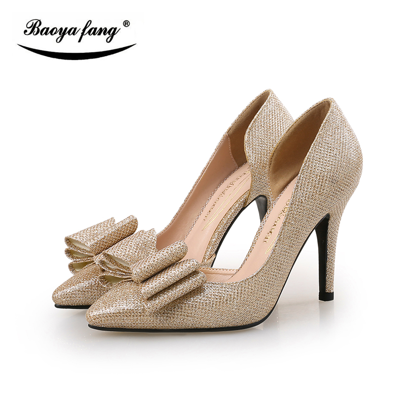 2017 New arrival Gold Gray Blue Sexy ladies wedding Party shoes shallow mouth thin high heels shoes women insloe Pumps Bowknot burgundy gray saphire blue pink women dress party career work shoes flock shallow mouth stiletto thin high heel pumps