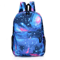 Hot Sale Fashion Unisex Canvas Teenager School Bag Book Campus Travel Backpack Star Sky Printed Mochila BP034